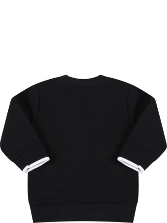 Givenchy Black Sweatshirt For Baby Kids With Logo