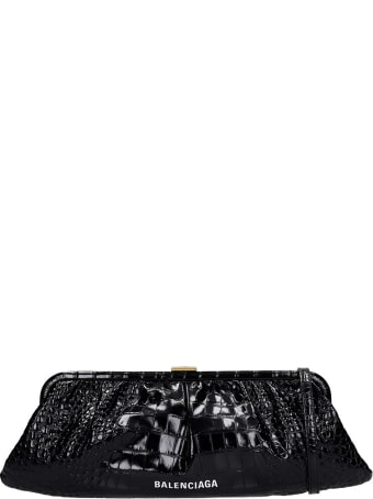 Balenciaga Clutch In Black Leather
