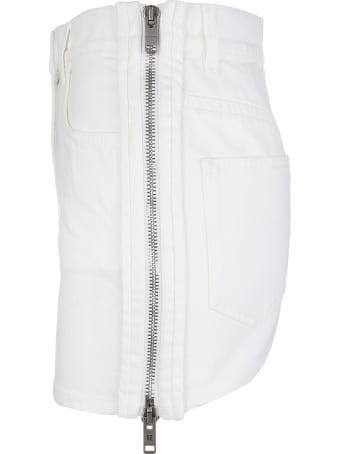 Givenchy White Denim Mini Skirt With Zip