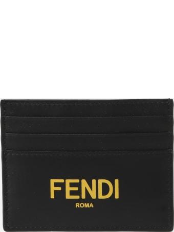 Fendi Black Leather Card Holder