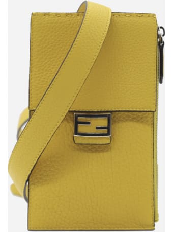Fendi Baguette Cell Phone Holder In Leather