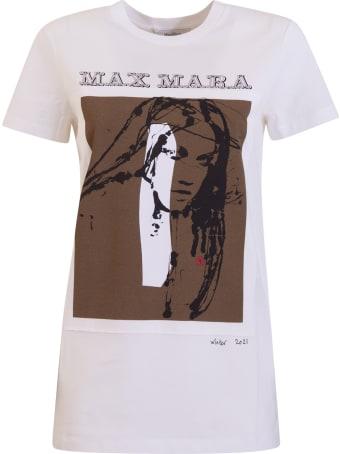 Max Mara T-shirt With Logo And Print