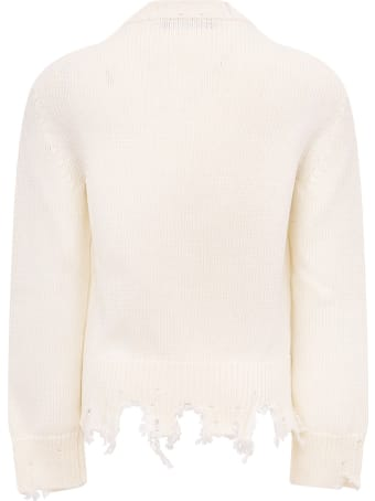 """Riccardo Comi White """"happy Day"""" Sweater For Kids"""