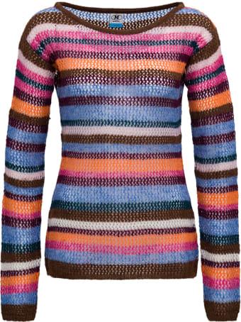 M Missoni Multicolor Striped Alpaca Blend Sweater