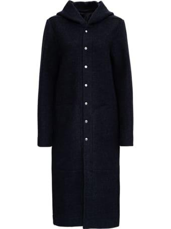 Rick Owens Long Coat In Wool Blend