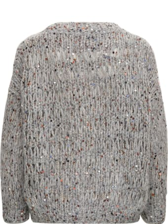 Brunello Cucinelli Mohair Blend Sweater With Sequins