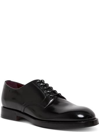 Dolce & Gabbana Black Leather Lace-up Shoes