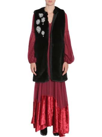 Ainea Sleeveless Faux-fur Coat