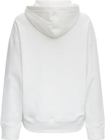 Jil Sander Organic Jersey Hoodie With Logo Print