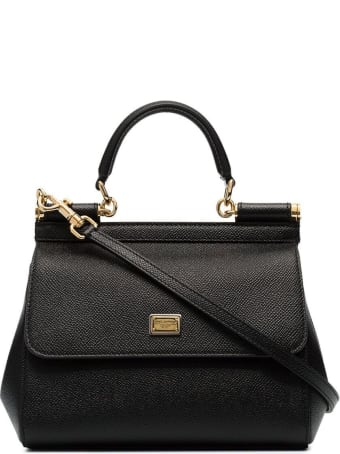 Dolce & Gabbana Sicily Dauphine Leather  Handbag