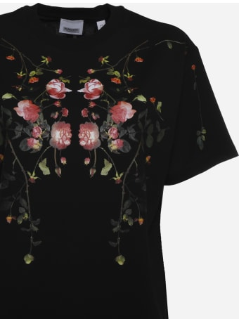Burberry Cotton T-shirt With Floral Print