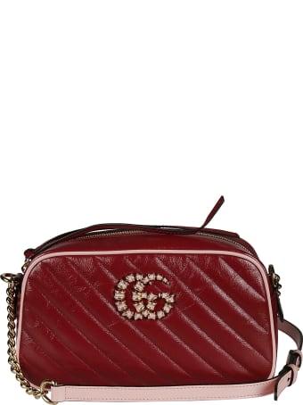 Gucci Gg Embellished Quilted Chain Shoulder Bag
