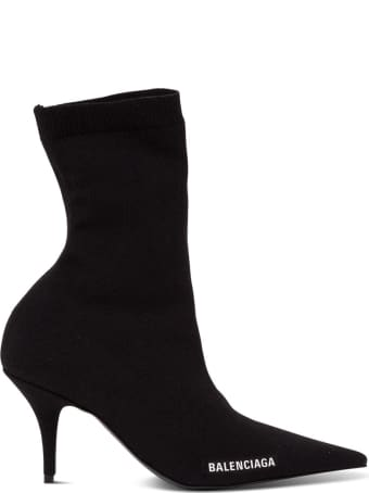 Balenciaga Knife Boots In Stretch Knit