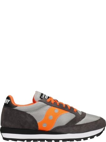 Saucony Jazz 81 Sneakers In Grey Suede And Fabric