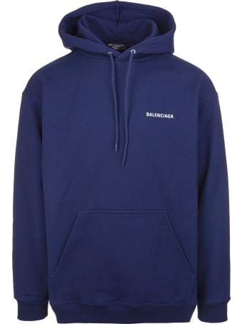 Balenciaga Unisex Dark Blue Balenciaga Wide Line Hoodie