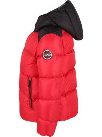 Colmar Red Jacket For Kids With Logo