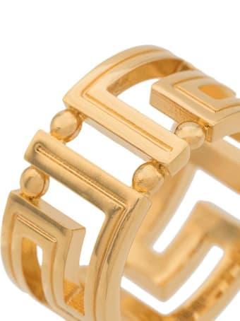 Versace Greek Golden Metal Ring
