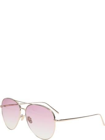 Linda Farrow Aviator By Matthew Williamson Sunglasses