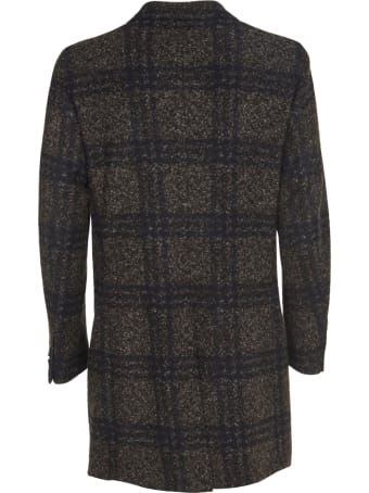 L.B.M. 1911 Checked Blue And Brown Coat