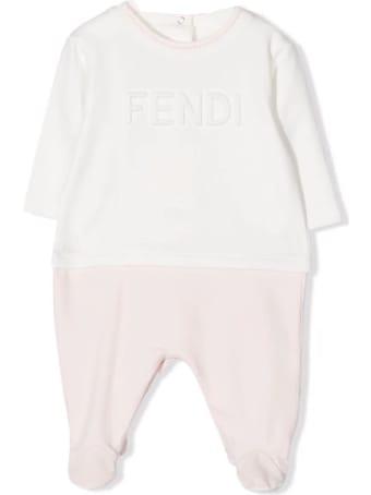 Fendi Rose Pink Cotton Romper