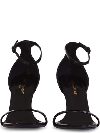 Saint Laurent Opyum Sandals In Patent Leather With A Black Heel