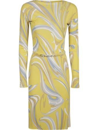 Emilio Pucci Classic Print Belted Dress