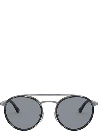Persol Persol Po2467s Gunmetal & Blue Grid Sunglasses