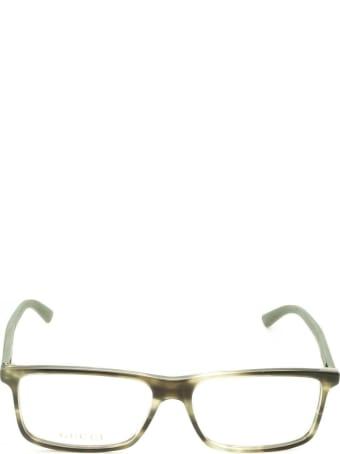 Gucci Gucci Gg0424o Green Havana Glasses