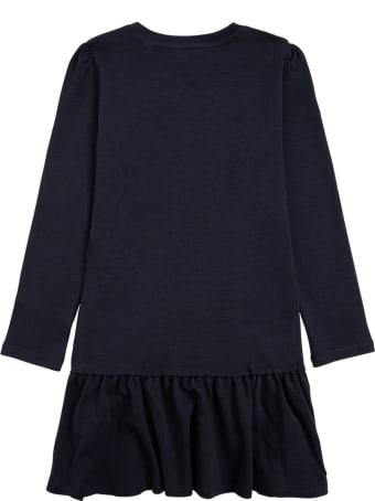 Marc Jacobs Blue Cotton Dress With Crossbody Bag Print
