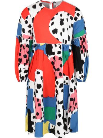 Stella McCartney Kids Multicolor Dress For Girl With Dalmatian Spots
