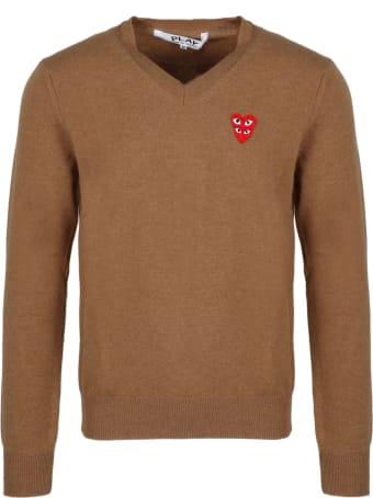 Comme des Garçons Play Heartlogo Patch Sweater