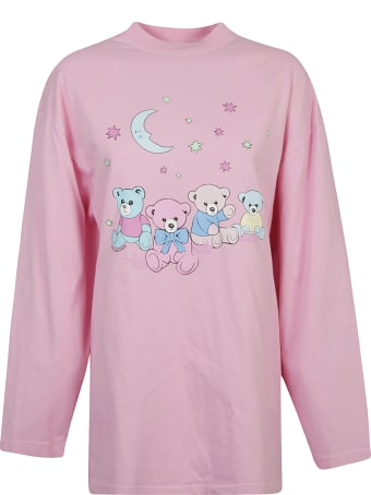 Balenciaga Bear Print Oversized Long-sleeved T-shirt