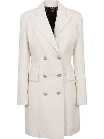 Philipp Plein Lamb Leather Long Coat Iconic Plein