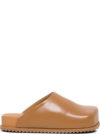 YUME YUME Brown Vegan Leather Mules