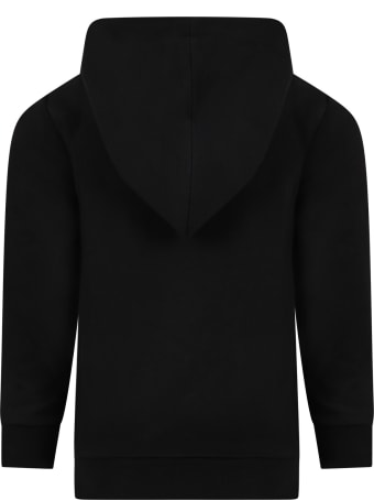 Gucci Black Sweatshirt For Kids With Vintage Logo