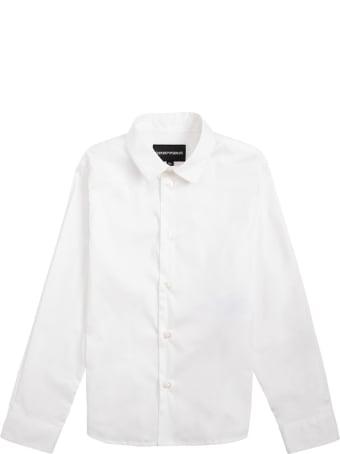 Emporio Armani White Cotton Poplin Shirt