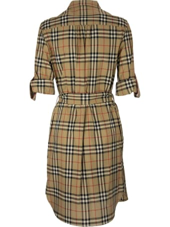 Burberry Giovanna - Vintage Check Stretch Cotton Tie-waist Shirt Dress