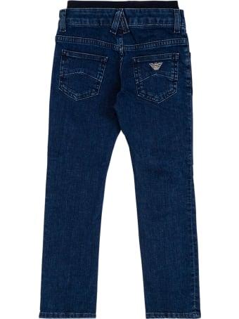 Emporio Armani Blue Denim Jeans With Elastic Waist