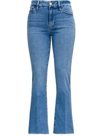 Frame Le Crop Flared Jeans In Denim