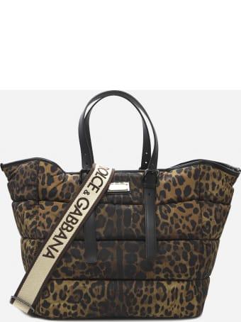Dolce & Gabbana Sicily Bag In Nylon With All-over Leo Print