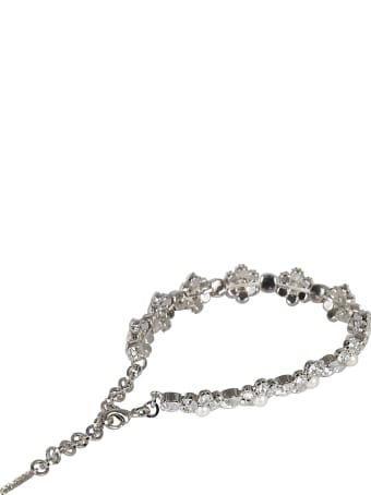 Alessandra Rich Crystal And Pearl Daisy Bracelet