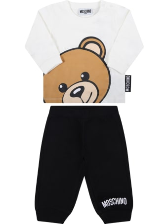 Moschino Multicolor Suit For Baby Kids With Teddy Bear