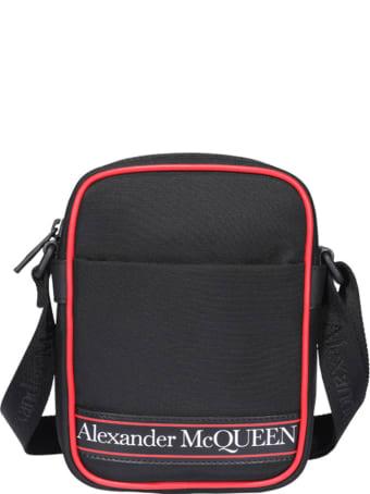 Alexander McQueen Mini Messenger Logo Bag