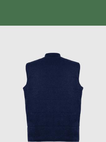 Sartorio Napoli Blue Cashmere Sleeveless Jacket