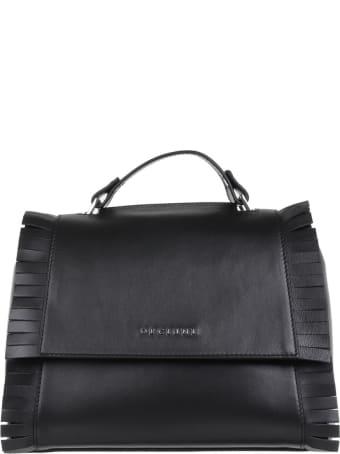 Orciani Sveva Black Leather Handbag