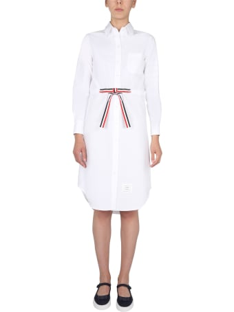Thom Browne Cotton Oxford Chemisier Dress