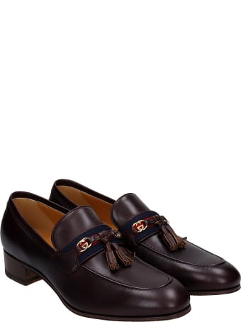 Gucci Loafers In Bordeaux Leather