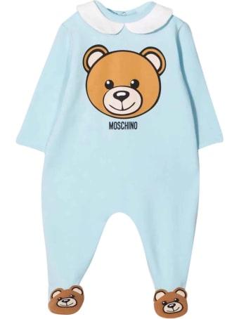 Moschino Light Blue Newborn Onesie