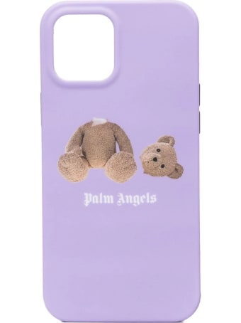 Palm Angels Lilac Iphone 12/12 Pro Case With Teddy Bear Print