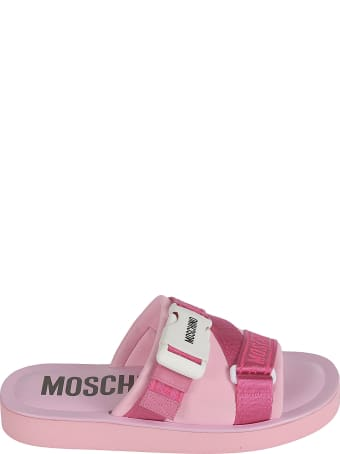 Moschino Strappy Logo Sliders